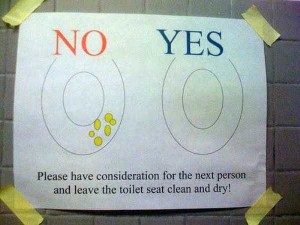 Seriously Funny Bathroom Notes and Signs (76 photos) 20