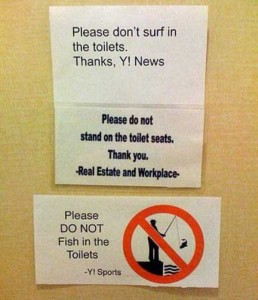 Seriously Funny Bathroom Notes and Signs (76 photos) 21