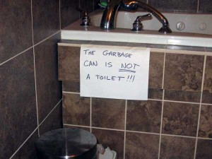 Seriously Funny Bathroom Notes and Signs (76 photos) 25