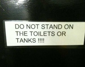 Seriously Funny Bathroom Notes and Signs (76 photos) 34