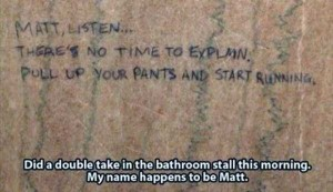 Seriously Funny Bathroom Notes and Signs (76 photos) 40