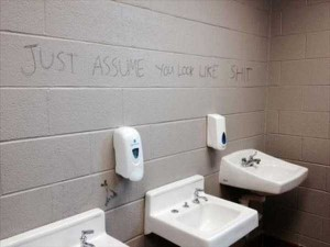 Seriously Funny Bathroom Notes and Signs (76 photos) 46