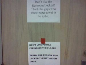 Seriously Funny Bathroom Notes and Signs (76 photos) 49