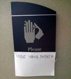 Seriously Funny Bathroom Notes and Signs (76 photos) 56