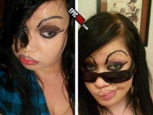 Awful Makeup Disasters (21 photos) 19