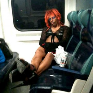 Strange Commuters You Don't Want to Meet on the Subway (30 photos) 21
