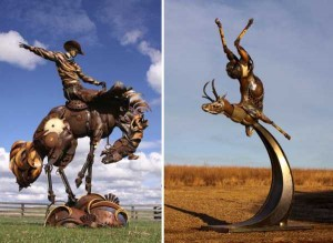 Stunning Life-Sized Animal Sculptures Made From Scrap Metal (24 photos) 12