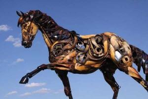 Stunning Life-Sized Animal Sculptures Made From Scrap Metal (24 photos) 14