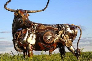 Stunning Life-Sized Animal Sculptures Made From Scrap Metal (24 photos) 15