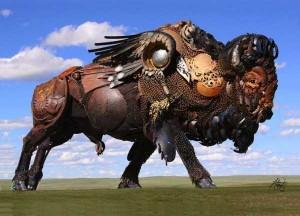 Stunning Life-Sized Animal Sculptures Made From Scrap Metal (24 photos) 16
