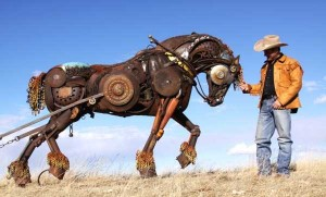Stunning Life-Sized Animal Sculptures Made From Scrap Metal (24 photos) 17