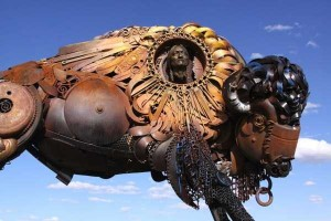 Stunning Life-Sized Animal Sculptures Made From Scrap Metal (24 photos) 22