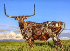 Stunning Life-Sized Animal Sculptures Made From Scrap Metal (24 photos) 4