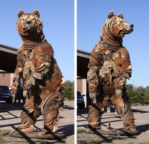 Stunning Life-Sized Animal Sculptures Made From Scrap Metal (24 photos) 5