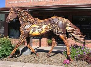 Stunning Life-Sized Animal Sculptures Made From Scrap Metal (24 photos) 6