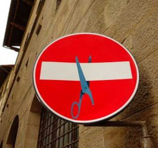 Unusually Modified Road Signs in Florence (32 photos)