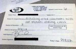 Hilariously Ridiculous Reasons to Get Detention (34 photos) 1
