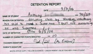 Hilariously Ridiculous Reasons to Get Detention (34 photos) 10
