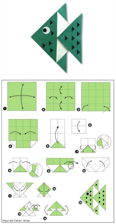 Схемы поделок оригами для дошкольников 19