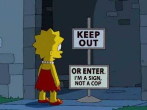 46 Hilarious Signs Spotted in The Simpsons (46 photos) 31