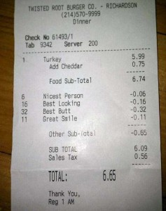 Unexpectedly Funny Things Spotted on Receipts (25 photos) 10