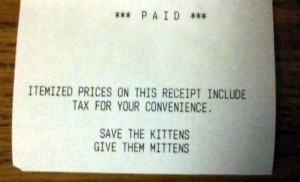 Unexpectedly Funny Things Spotted on Receipts (25 photos) 15