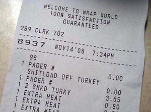Unexpectedly Funny Things Spotted on Receipts (25 photos) 20