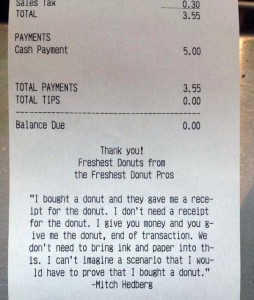 Unexpectedly Funny Things Spotted on Receipts (25 photos) 5