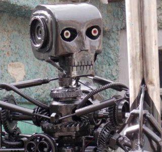 Terminator T-800 Endoskeleton Made From Scrap Metal (17 photos)