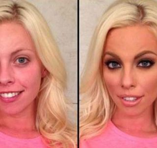 Playboy Models Before and After Applying Makeup (18 photos)