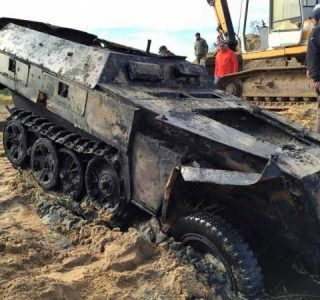 Nazi WWII Halftrack Recovered From River Pilica (32 photos)