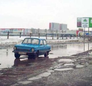 Roads in the City of Omsk are in Poor Condition (21 photos)