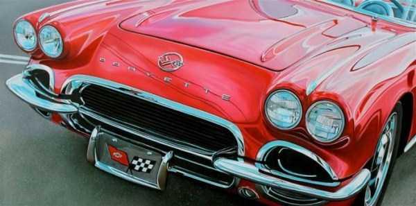 Cheryl Kelley-realistic-car-drawings (10)