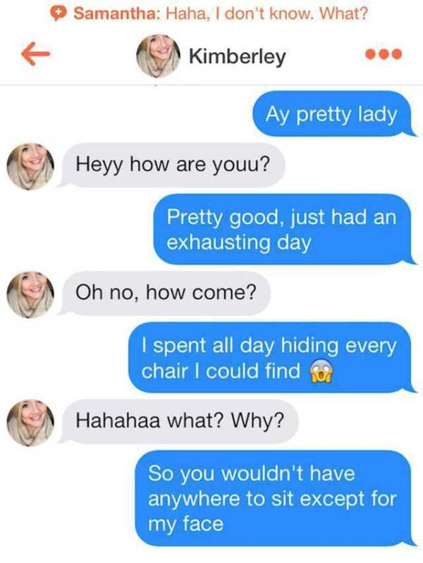 how to start a chat in tinder
