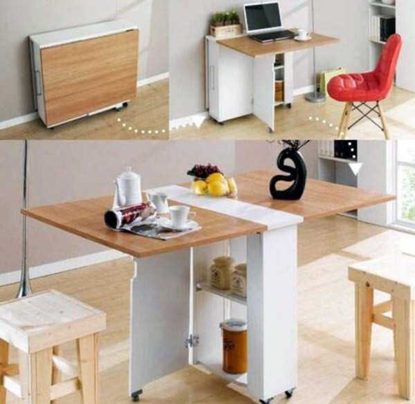 If you live in a tiny apartment these space-saving furniture design ideas  might come in handy.